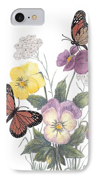 Little Heartsease Phone Case by Stanza Widen