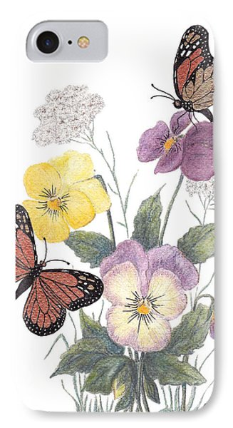 IPhone Case featuring the painting Little Heartsease by Stanza Widen