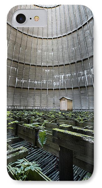 IPhone Case featuring the photograph Little House Inside Industrial Cooling Tower by Dirk Ercken