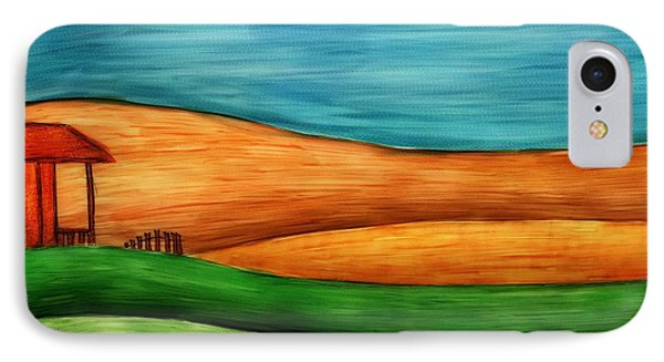 Little House On Hill IPhone Case