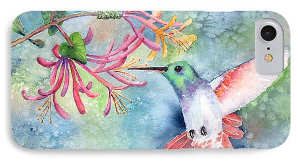 Little Hummingbird IPhone Case by Arline Wagner