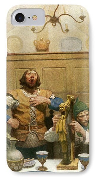 Little John Sings At The Banquet IPhone Case by Newell Convers Wyeth