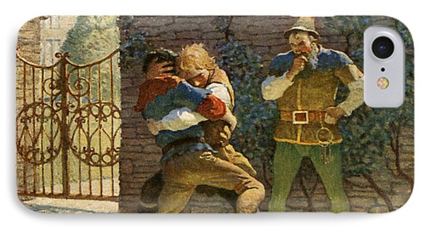 Little John Wrestles At Gamewell IPhone Case by Newell Convers Wyeth