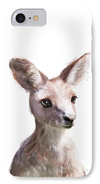Little Kangaroo IPhone Case by Amy Hamilton
