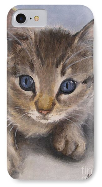IPhone Case featuring the painting Little Kitty by Jindra Noewi