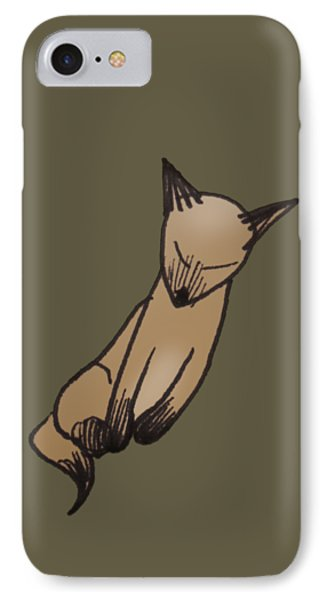 IPhone Case featuring the drawing Little Kitty by Keith A Link