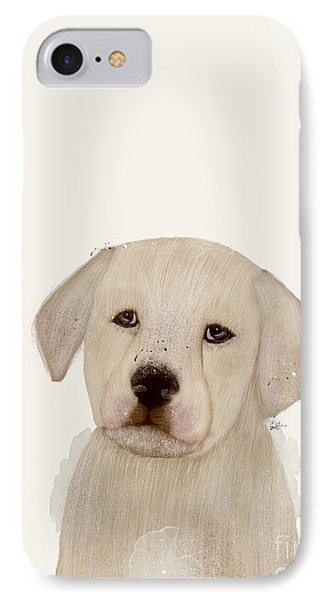 IPhone Case featuring the painting Little Labrador by Bri B