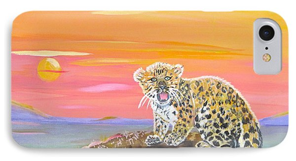 IPhone Case featuring the painting Little Leopard by Phyllis Kaltenbach