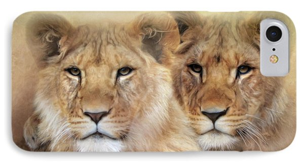 IPhone Case featuring the digital art Little Lions by Trudi Simmonds