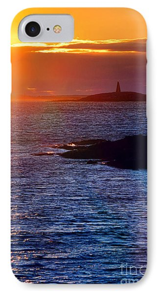 Little Mark Island At Sunset IPhone Case by Olivier Le Queinec