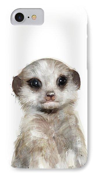 Little Meerkat IPhone Case by Amy Hamilton