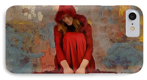 IPhone Case featuring the mixed media Little Mel Riding Hood by Trish Tritz