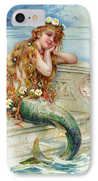 Little Mermaid IPhone Case by E S Hardy