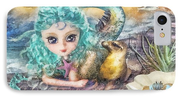 Little Mermaid IPhone Case by Mo T