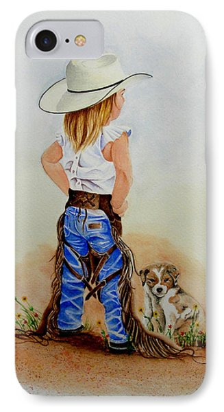 Little Miss Big Britches IPhone Case by Jimmy Smith