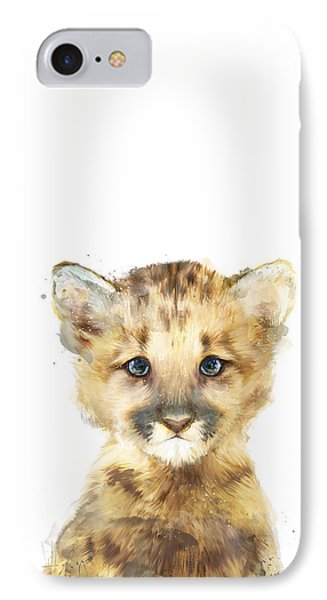 Lion iPhone 7 Case - Little Mountain Lion by Amy Hamilton