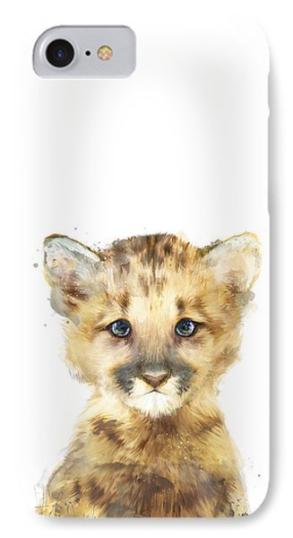 Little Mountain Lion IPhone Case by Amy Hamilton