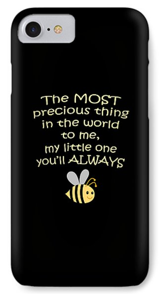 Little One You'll Always Bee Print IPhone Case by Inspired Arts