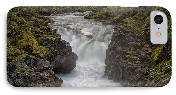 Little Qualicum Lower Falls IPhone Case by Randy Hall
