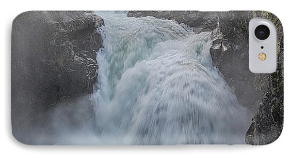 Little Qualicum Upper Falls IPhone Case by Randy Hall
