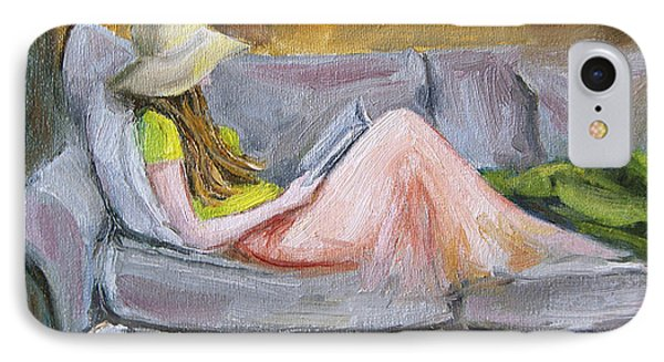 IPhone Case featuring the painting Little Reader by Jennifer Beaudet