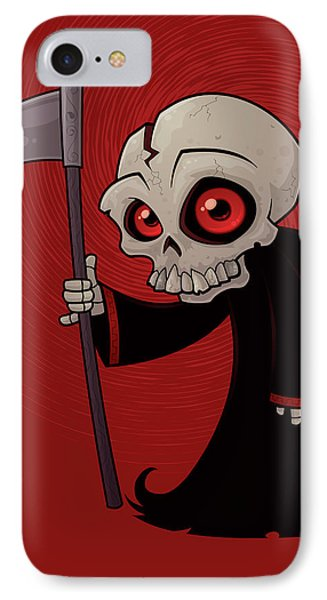 Little Reaper IPhone Case by John Schwegel