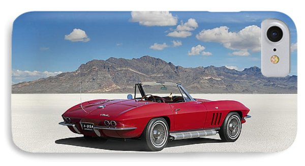 IPhone Case featuring the digital art Little Red Corvette by Peter Chilelli
