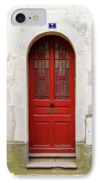 IPhone Case featuring the photograph Little Red Door by Melanie Alexandra Price