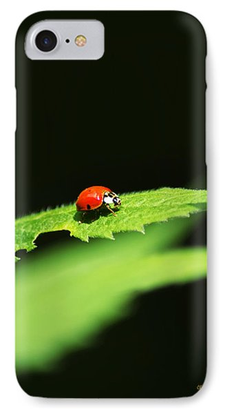 Little Red Ladybug On Green Leaf IPhone 7 Case