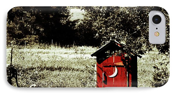 Little Red Outhouse Phone Case by Ms Judi