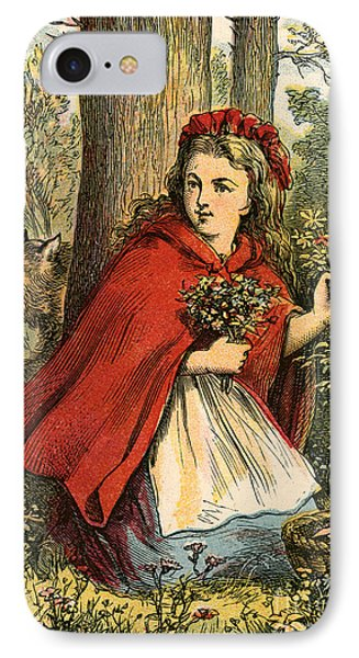 Little Red Riding Hood Gathering Flowers IPhone Case