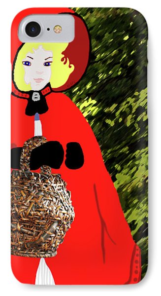 Little Red Riding Hood In The Forest IPhone Case
