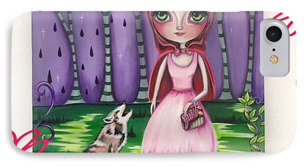 little Red Riding Hood Painting IPhone Case