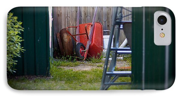 IPhone Case featuring the photograph Little Red Wagon by Tim Nichols