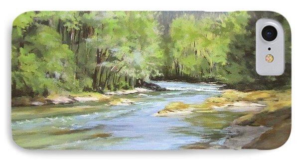 Little River Morning IPhone Case by Karen Ilari