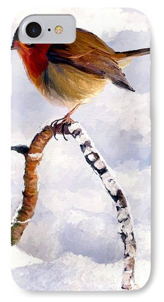 IPhone Case featuring the painting Little Robin Redbreast by James Shepherd