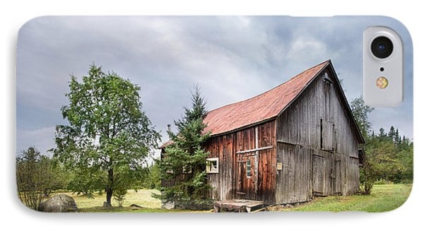 IPhone Case featuring the photograph Little Rustic Barn, Adirondacks by Gary Heller