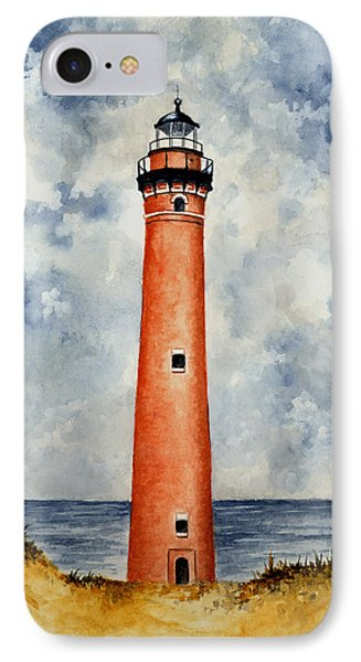 Little Sable Point Lighthouse Phone Case by Michael Vigliotti