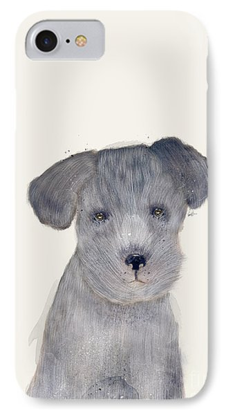 IPhone Case featuring the painting Little Schnauzer by Bri B