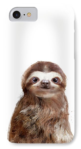 Little Sloth Phone Case by Amy Hamilton