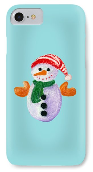 Little Snowman IPhone Case by Anastasiya Malakhova