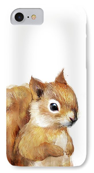 Little Squirrel Phone Case by Amy Hamilton