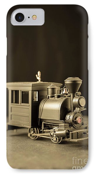 IPhone Case featuring the photograph Little Steam Locomotive by Edward Fielding