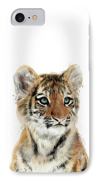 Little Tiger IPhone Case by Amy Hamilton