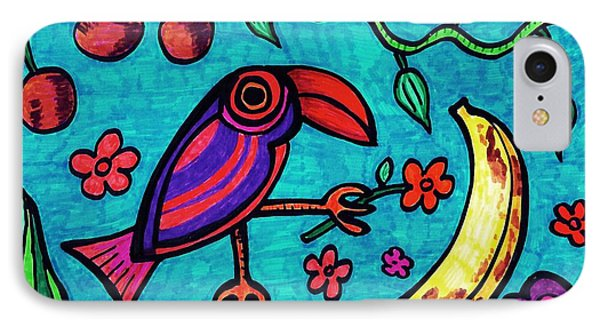 Little Toucan Phone Case by Sarah Loft