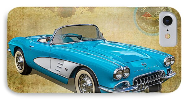 Little Vette IPhone Case by Keith Hawley