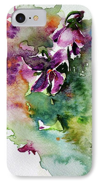 IPhone Case featuring the painting Little Violet by Kovacs Anna Brigitta
