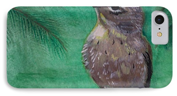 IPhone Case featuring the painting Little Warbler by Leslie Allen