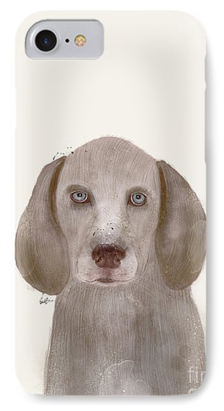 IPhone Case featuring the painting little Weimaraner by Bri B