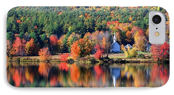 IPhone Case featuring the photograph 'little White Church', Eaton, Nh	 by Larry Landolfi
